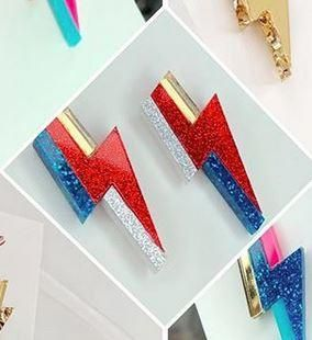 Louna Rae Bowie Studs Red Blue Red And Blue Red Blue