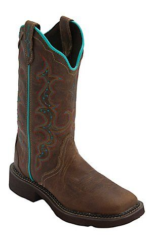 Justin® Gypsy Collection™ Women's Tan Jaguar Triad Square Toe Western Fashion Boots   Cavender's Boot City
