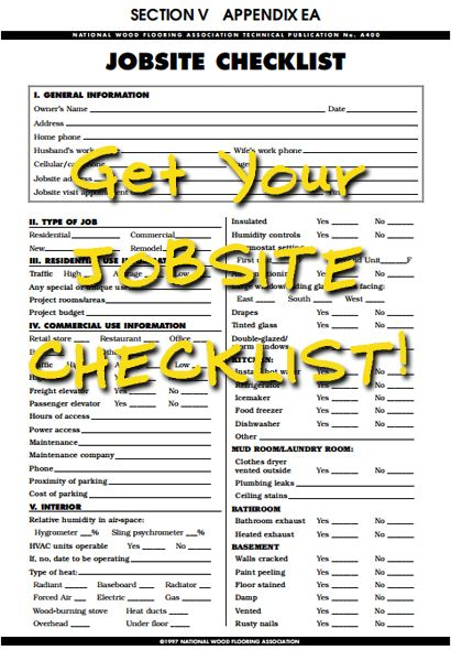 Save a checklist for your next flooring project!