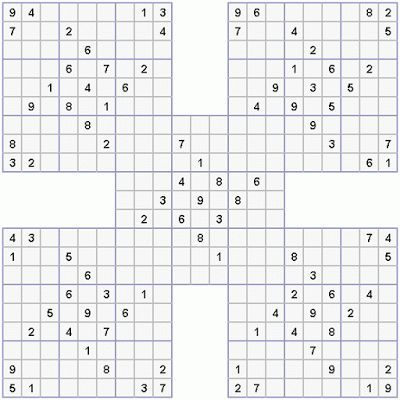 This is a picture of Printable Sudoku Hard for average printable