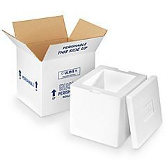 Stryofoam Boxes Insulated Shipping Boxes Foam Shippers Uline Foam Insulated Kit