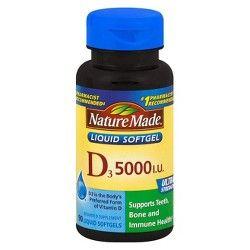 Vitamin D 5000iu Softgels 250ct Up Up Nature Made Vitamins Vitamin D Vitamins