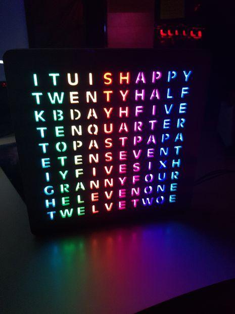 Design And 3d Print An Rgb Word Clock 3d Printing Diy 3d
