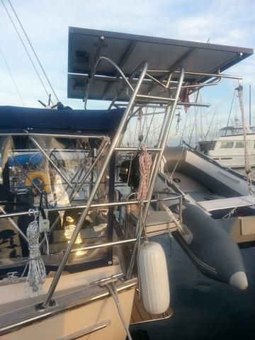 Custom Solar Panel Mounting Structure Lippincott Marine Canvas Boats Sailboats Florida Stainless Steel S Boat Projects Stainless Steel Fabrication Cruiser Boat