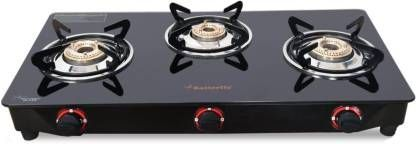 Save 59 Butterfly Rapid Glass Manual Gas Stove 3 Burners