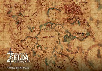 Breath Of The Wild Hyrule World Map Premium Collectible Puzzle