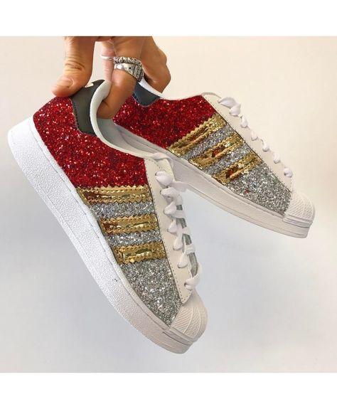 adidas superstar glitter silver