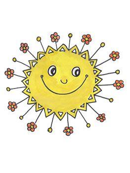 Sluníčko | Clip art, Theme, Jaro