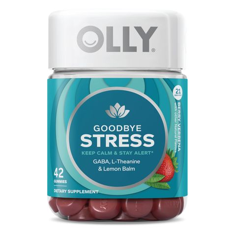 Olly Goodbye Stress Gummies Berry Verbena 42 Ct Olly Vitamins