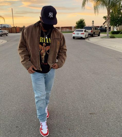 Dope Outfits For Guys, Stylish Mens Outfits, Indie Outfits, Retro Outfits, Casual Outfits, Trendy Mens Fashion, Dope Fashion, Urban Fashion Men, Plaid Shirt Outfits