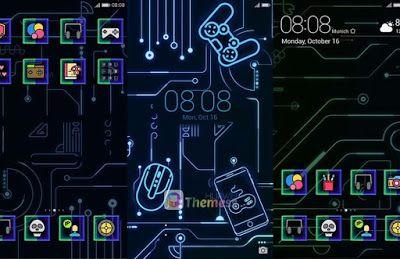 Gameon Dark Theme For Emui 4, Huawei emui themes, emui