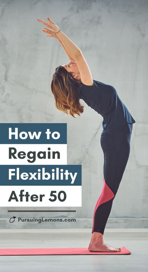 How To Regain Flexibility After 50 Practice these yoga poses & stretches frequently to regain flexibility even if you're over Yoga Fitness, Fitness Home, Fitness Workout For Women, Senior Fitness, Health Fitness, Easy Fitness, Fitness Man, Physical Fitness, Fitness Diet