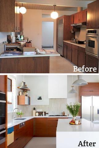 Midcentury Kitchen Restoration Clever Architectural Digest Mid Century Modern Kitchen Remodel Modern Kitchen Remodel Modern Kitchen Design
