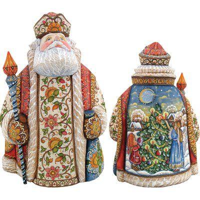 The Holiday Aisle Treasured Trimming Santa Figurine Santa Figurines Russian Santa Figurines
