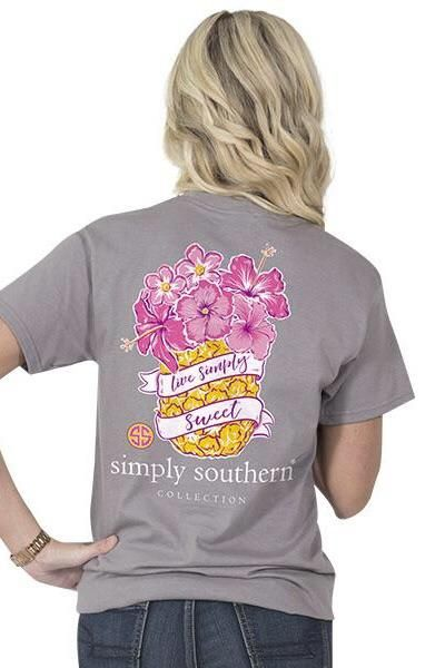 44e34c8e Simply Southern Live Simply Sweet Tee - Gray from Chocolate Shoe ...