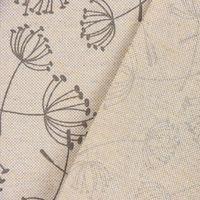 Dekostoff Gardinenstoff Leinenoptik Pusteblume Blume natur grau 1,4m Breite