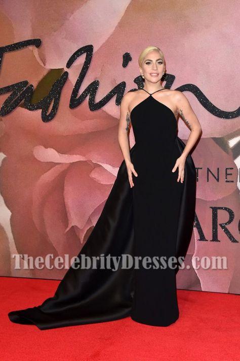 Ladygaga Black Backless Long Eveningdress Fashion Awards