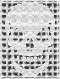 crossbones for afghan CROCHET graph with instructions PATTERN