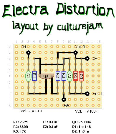 Electra Distortion 2 Layouts Point To Point Transistors And Beer Diy Guitar Pedal Guitar Pedals Guitar Distortion Pedal