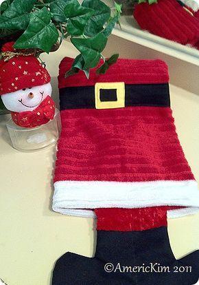 Santa S Boot Hand Towel Christmas Sewing Christmas Crafty Christmas Linen