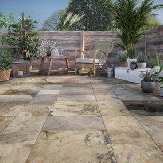 Sol Terrasse Carrelage Sol Et Mur Exterieur Forte Pierre Dore Monastere L 30 X L 30 Cm Leroy Merlin Sol Exterieur Carrelage Terrasse Exterieur Carrelage Sol