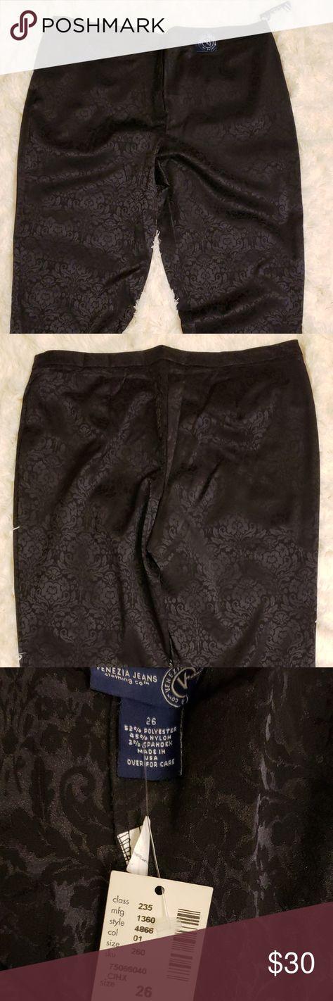 93217bb1870d Lane Bryant Black Damask Dress Pants Plus Size NWT Lane Bryant Women s  Party Wear Black Damask