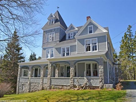 Sweet House Dreams 1890 Victorian Mansion In Sorrento Maine Victorian Style Homes Mansions House Plans With Photos