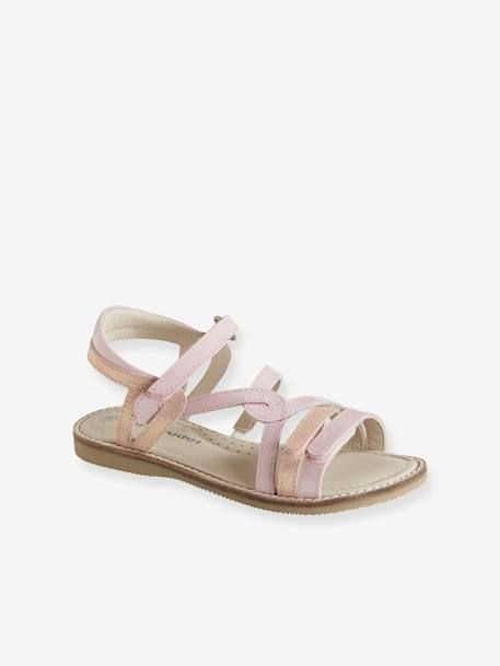 Sandales scratchées en cuir fille collection maternelle
