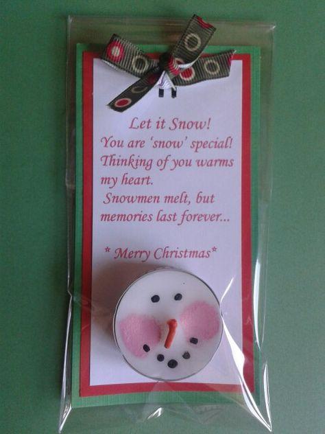 Snowman Tealight.
