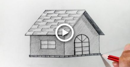 How To Draw A House For Kids By Dawn House Drawing For Kids