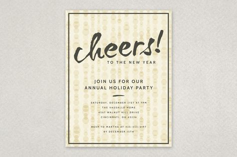 Classic Holiday Party Flyer Template winter seasonal design from - holiday party flyer template