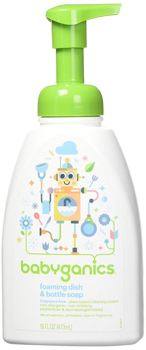 Amazon Com Babyganics Foaming Dish And Bottle Soap Fragrance