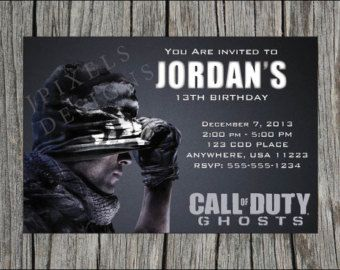 Free Printable Call Of Duty Birthday Invitations Choice Image