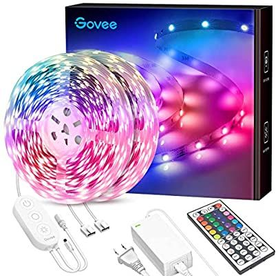 Amazon Com 65 6ft Led Strip Lights Govee Ultra Long Color Changing Light Strip With Remote 600leds B Led Strip Lighting Color Changing Lights Strip Lighting
