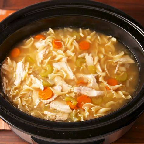 Crock Pot Chicken Noodle Will Warm Up Your Whole Crew Recipe Soup Recipes Chicken Noodle Chicken Soup Recipes Crockpot Chicken Noodle Soup Recipes