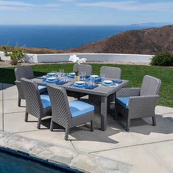 Silverlake 7 Piece Dining Set By, Mission Hills Patio Furniture