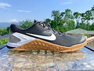 Consistente entrega a domicilio adverbio  Nike Metcon 4 AH7453-006 Mens Black White Gum Crossfit Training Sz 13 |  eBay | Nike metcon, Black and white man, Mens training shoes