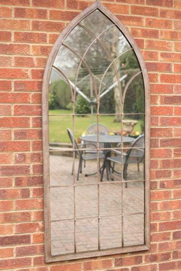 Dorset Rustic Arch Large Garden Mirror 169 X 75 Cm With Images