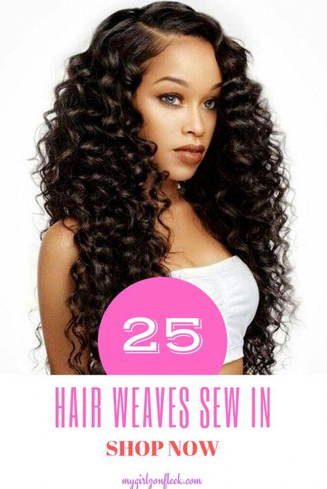 Black Women Sew In : black, women, Trendy, Hairstyles, Black, Women, Weave, Beauty