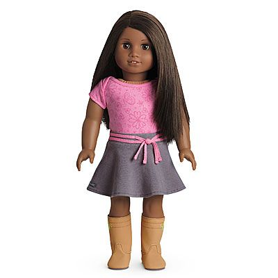 American Girl Dolls Dark Skin Straight Dark Brown Hair Brown