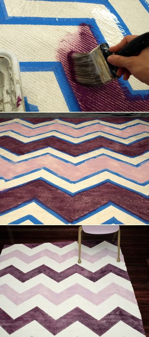 DIY Chevron rug.