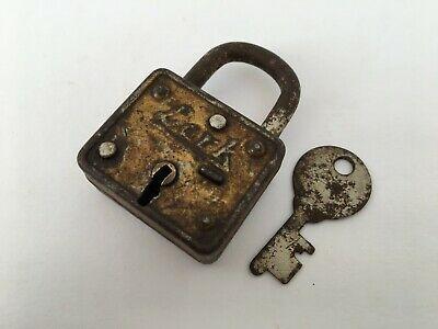 Details About Lock Old Vintage Brass Padlock Lock With Key Rich Patina Lark Collectible Brass Vintage Ebay