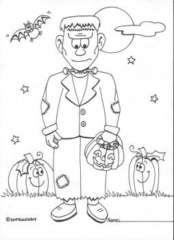 Halloween Coloring Pages By Noodlzart Teachers Pay Teachers Halloween Coloring Pages Halloween Coloring Halloween Party Activities