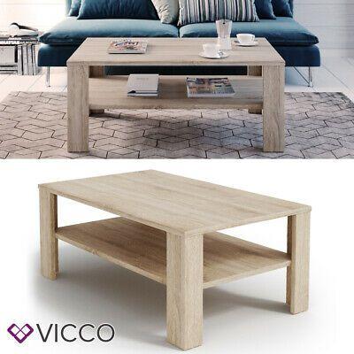 Vicco Tavolino Da Divano Tavolino Da Salotto Sonoma Con Ripiano Tavolino Divano Tavolini Mobili Salotto