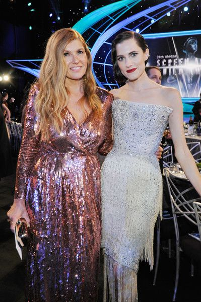 Actors Connie Britton and Allison Williams attend the 24th Annual Screen Actors Guild Awards.