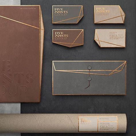 "World Brand Design Society on Instagram: ""Asthetíque @asthetique.branding - ""Five points group"" Brand identity #newyork #manhattan #nyc #graphicdesign #art #graphicdesigner…"""