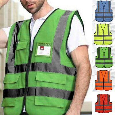Sponsored Ebay High Visibility With Pockets Neon Colorful Safety