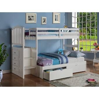 Viv Rae Kroger Twin Over Full Bunk Bed Reviews Wayfair Bunk Beds With Storage White Loft Bed Bunk Bed With Trundle