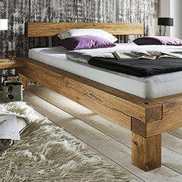 Balkenbett Madea Palettenschlafzimmermobel Bett Massivholz