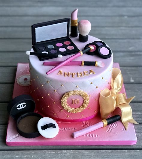 29 Trendy Birthday Cake Girls Kids Makeup Birthday Cakes Girls Kids Makeup Birthday Cakes Birthday Cakes For Teens